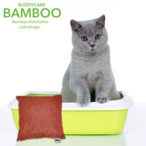Buddycare-Bamboo Geruchsfrei Katzenklo